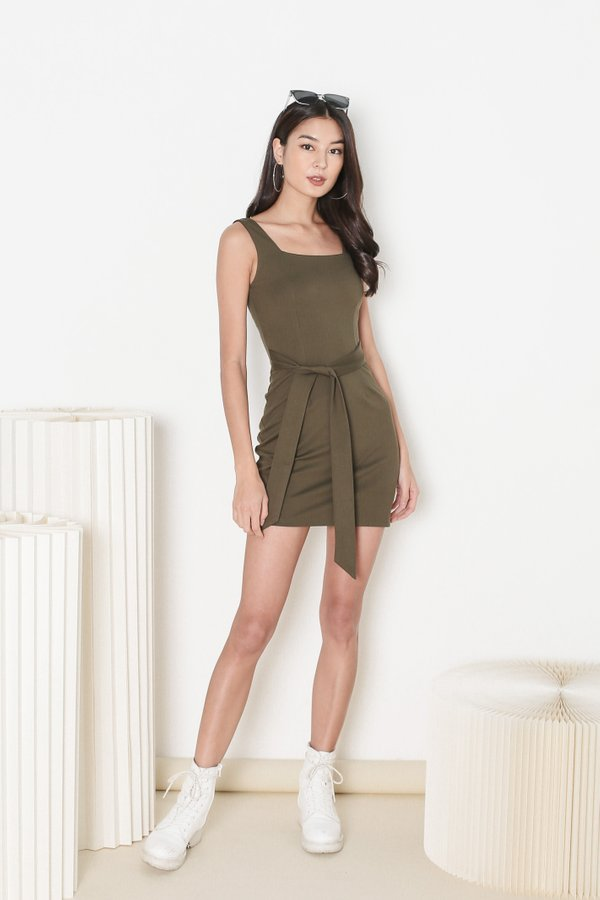 *TPZ* INTUITION DRESS IN OLIVE