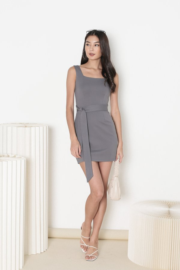 *TPZ* INTUITION DRESS IN GUNMETAL