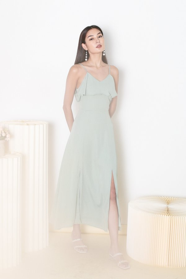 *TPZ* LOVE AT FIRST SIGHT MAXI DRESS IN DUSTY SAGE