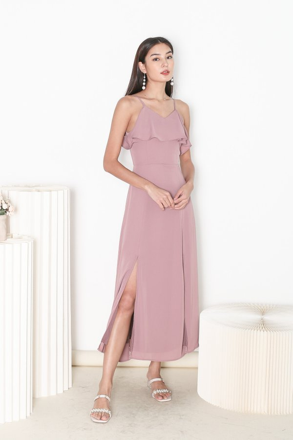 *TPZ* LOVE AT FIRST SIGHT MAXI DRESS IN DUSTY PINK