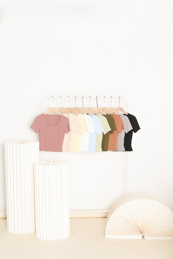 *TPZ* TAKE IT EASY RIBBED TOP *BUNDLE OF 10*
