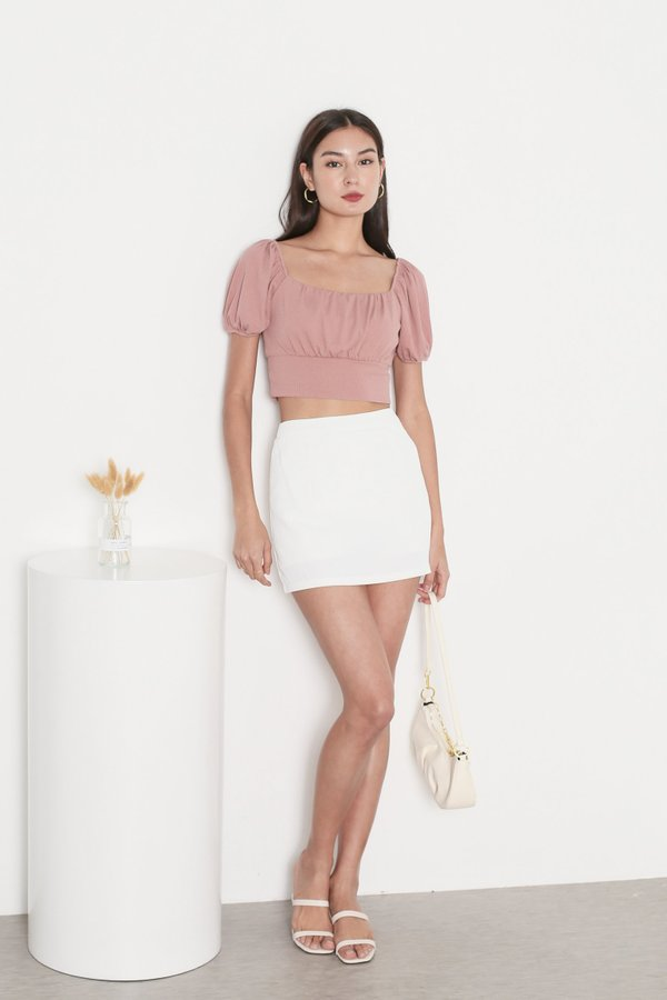 *TPZ* WISELLE V2 RIBBED BASIC TOP IN DUSTY PINK