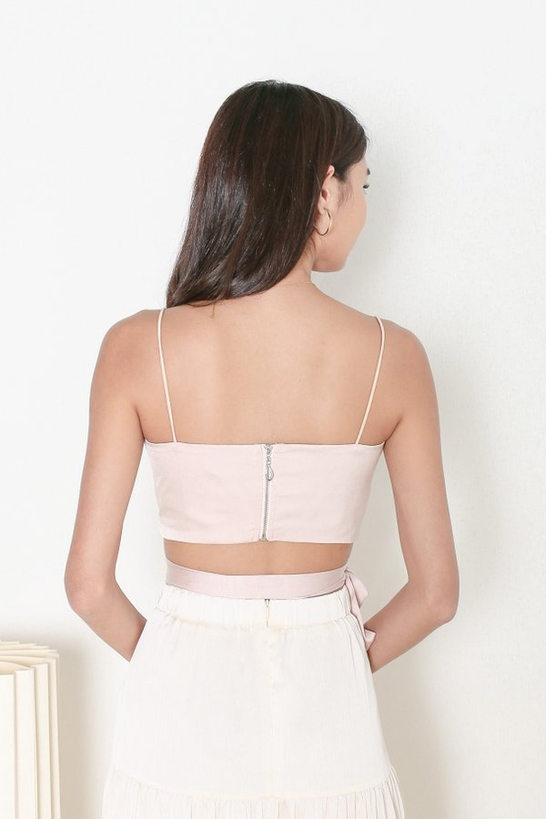 *TPZ* MAKE A WISH SATIN TOP IN NUDE PINK