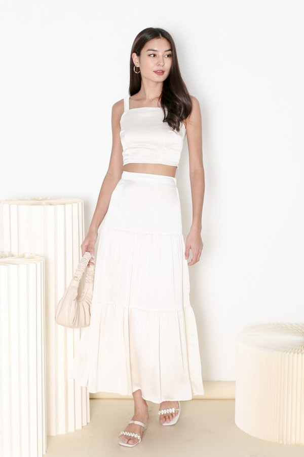 *TPZ* HOOKED ON YOU MAXI SKIRT IN IVORY