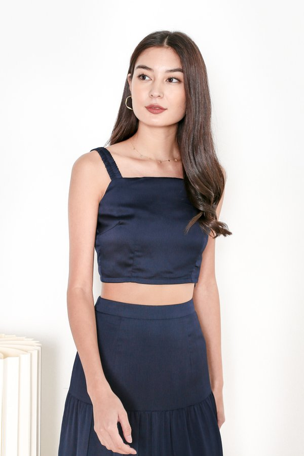 *TPZ* HOOKED ON YOU TOP IN MIDNIGHT BLUE