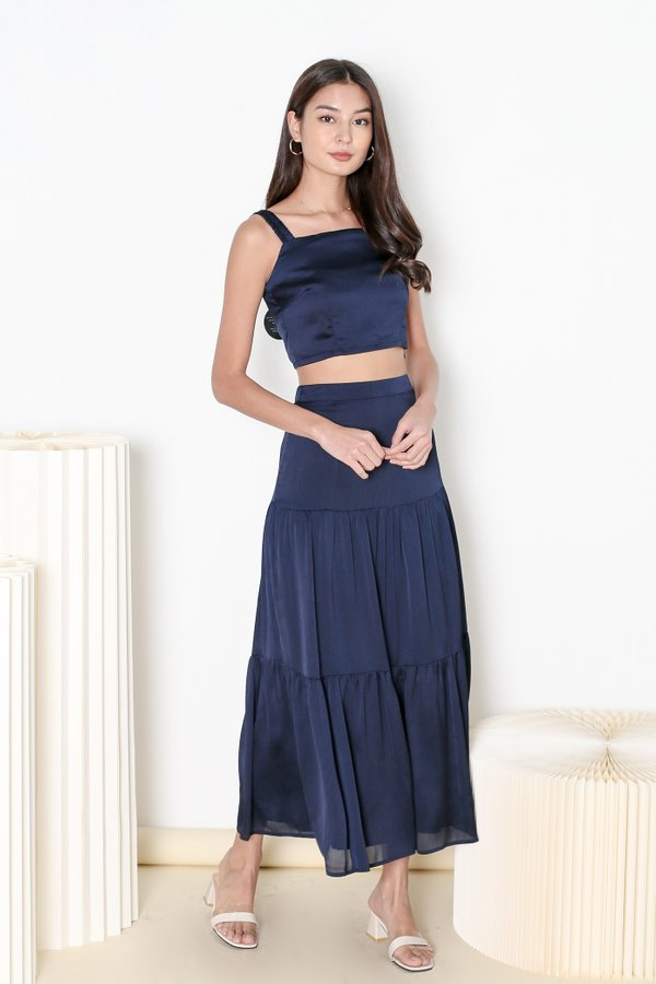 *TPZ* HOOKED ON YOU MAXI SKIRT IN MIDNIGHT BLUE