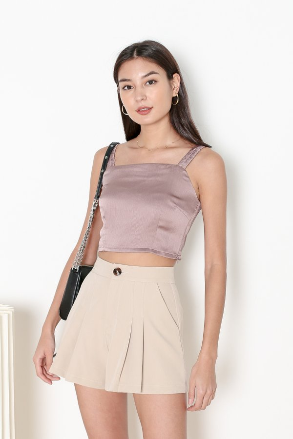 *TPZ* HOOKED ON YOU TOP IN MAUVE