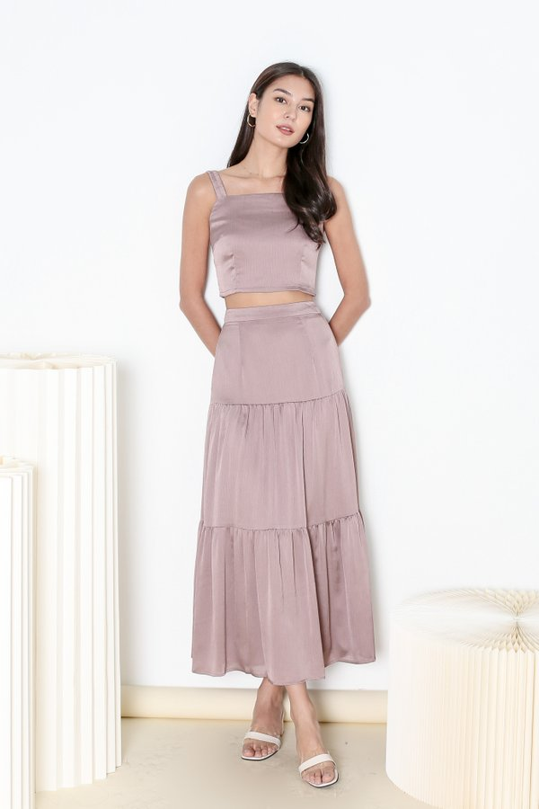 *TPZ* HOOKED ON YOU MAXI SKIRT IN MAUVE