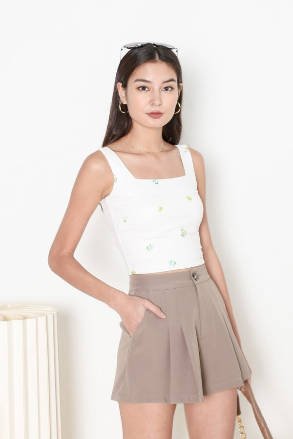 *TPZ* ZAELYN 2 WAY STRAP TOP IN WHITE FLORAL