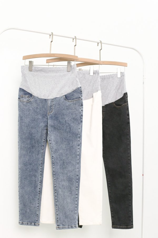 *TPZ* CLASSIC MATERNITY JEANS IN BLACK WASH