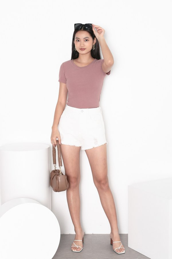 *TPZ* ERR DAY BASIC TOP IN DUSTY ROSE